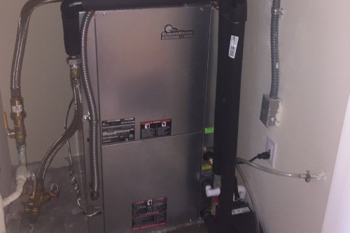 Watersource Heat Pump installation in San Diego, CA